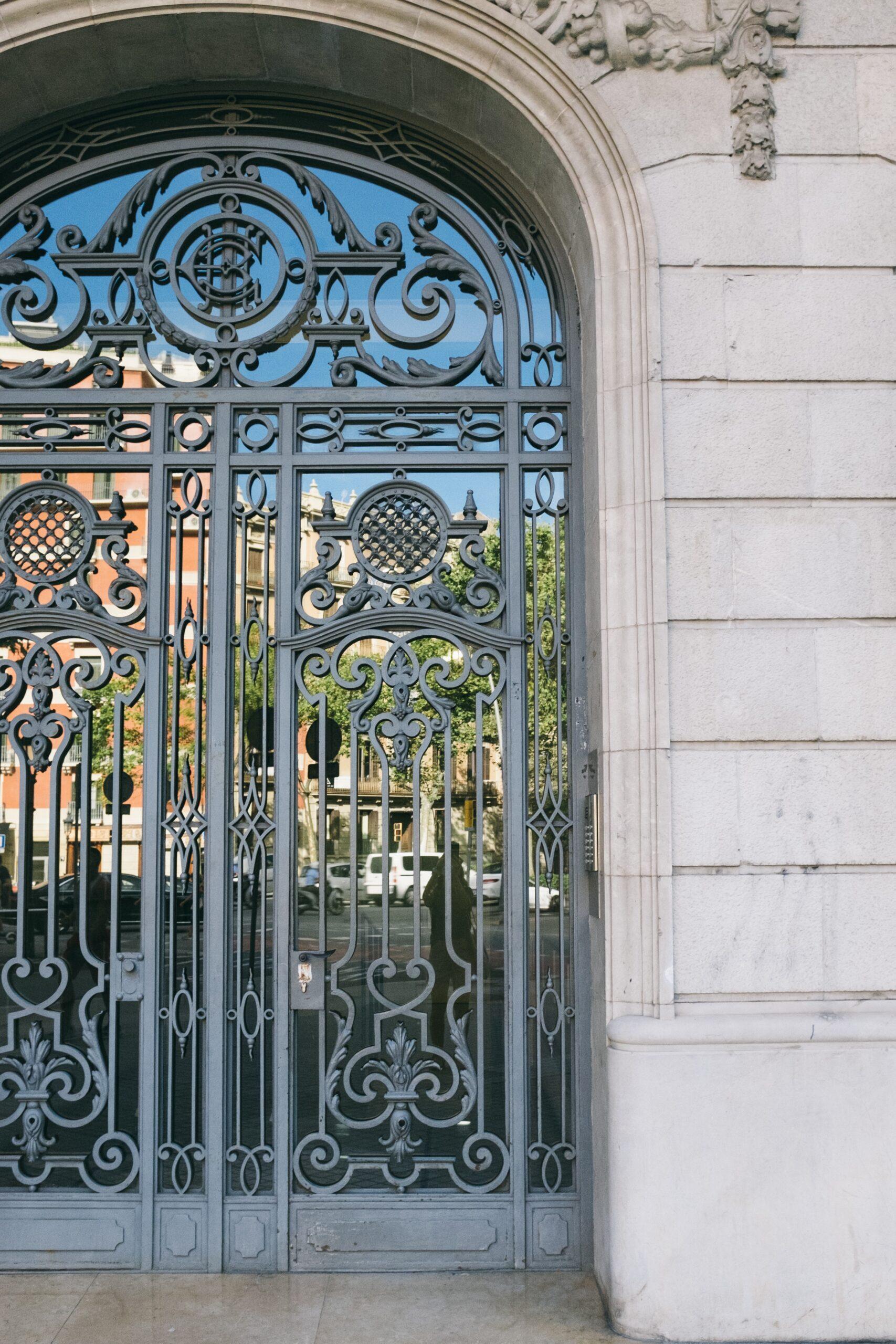 درب فلزی زیبا