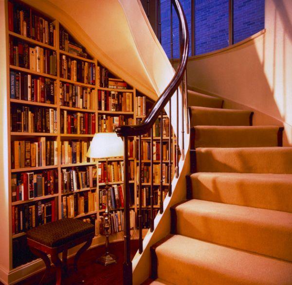 کتابخانه زیر پله دوبلکس