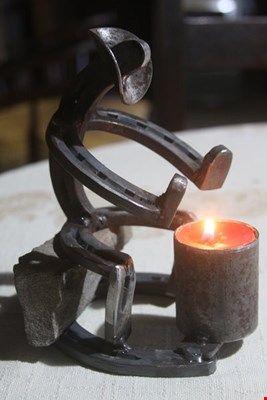 جای شمعی فلزی